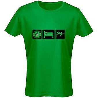Comer dormir atletismo mujeres camiseta 8 colores (8-20) por swagwear