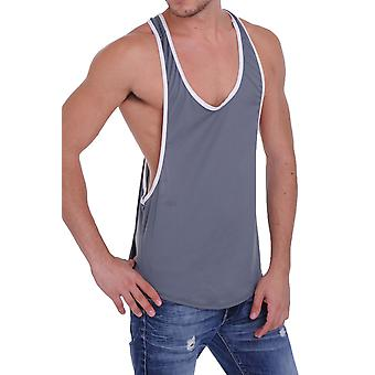 Men's Mesh Dri Fit Light Weight Racer Back Tank Top Gym Made in the USA