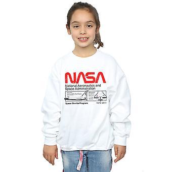 NASA meisjes klassieke Space Shuttle Sweatshirt