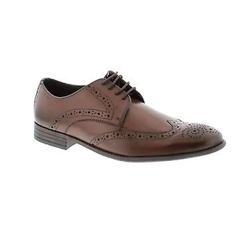 Clarks Chart Limit - Brown Leather Mens Shoes Various