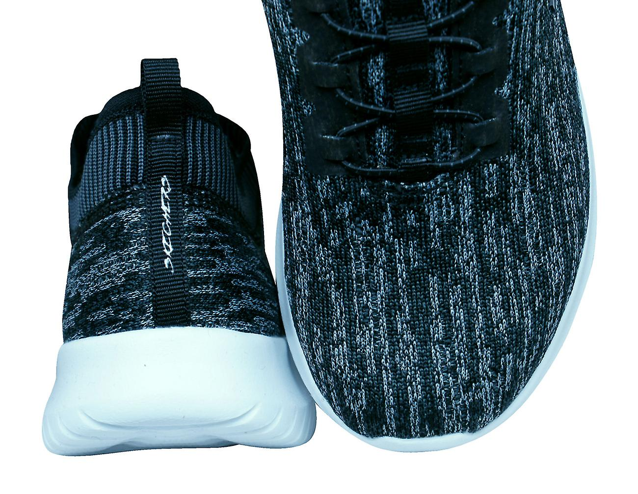 Womens Skechers Trainers Ultra Flex Bright Horizon Knitted Shoes - Black