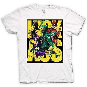 Womens T-shirt-Kick Ass Super Hero - B-Movie - Poster