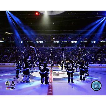 2017 Winnipeg Jets zespół wprowadzenie Photo Print