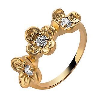 Orphelia Silver 925 Ring Gold  Zirconium   ZR-6018/2