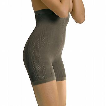 Solidea Silver Wave High Waist Short Body Shaper [Style 448A5] Noisette (Dark Beige)  XL