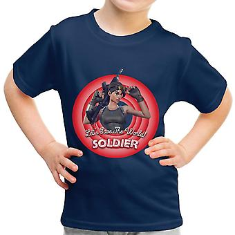 Fortnite Soldier Lets Save The World Kid's T-Shirt