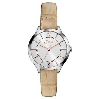 s.Oliver Damen Uhr Armbanduhr Leder SO-3123-LQ