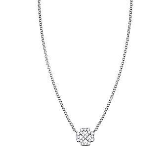 ESPRIT women's chain necklace silver cubic zirconia Pico luck ESNL93371A420