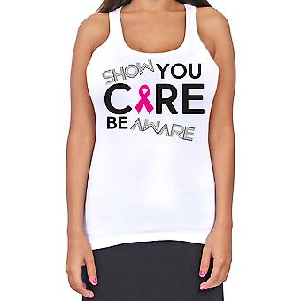 Juniors Dri Fit Show You Care Be Aware Breast Cancer Support T-Back Tank Top