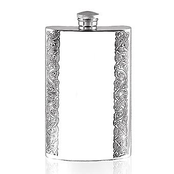 Celtic Knotwork Design Pewter Hip Flask - 8oz