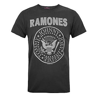 Amplified Official Mens Ramones Logo T-Shirt