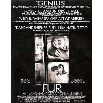 Fur An Imaginary Portrait of Diane Arbus Movie Poster (11 x 17)