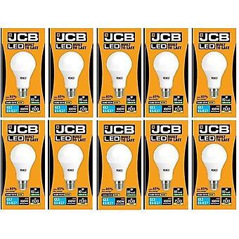 20 JCB X 15 Watt tappo a vite GLS lampada LED bianco caldo 3000K 100W sostituzione ES E27 LED [classe energetica A +]