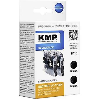 KMP Ink replaced Brother LC-123 Compatible Pack of 2 Black B41D 1525,0021