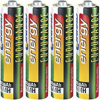 Conrad energy Endurance HR03 AAA batteri (laddningsbara) NiMH 800 mAh 1,2 V 4 dator