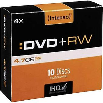 Blank DVD+RW 4.7 GB Intenso 4211632 10 pc(s) Slim case Rewritable