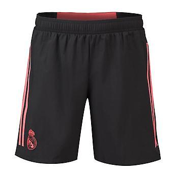 2018-2019 Real Madrid Adidas UCL Training Shorts (Black)