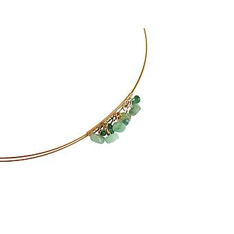 Gemshine - ladies - necklace - gold plated - faceted emerald - green - - 45 cm