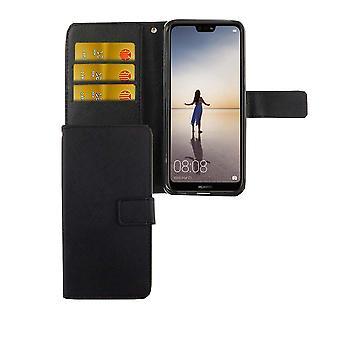 Handyhülle Tasche für Handy Huawei P20 Lite Schwarz