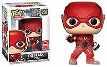 Funko Justice League Movie - Flash Running Translucent Feet Sdcc + Pop Protector