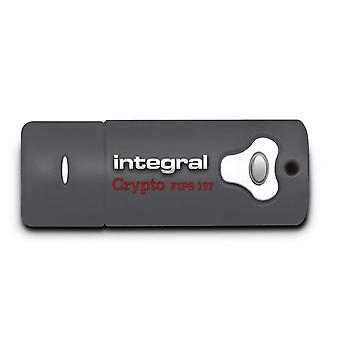 Integraal INFD8GCRY3.0197 Crypto FIPS 197 4 GB USB 3.0 Flash Drive met 256 Bit AES Hardware-encryptie