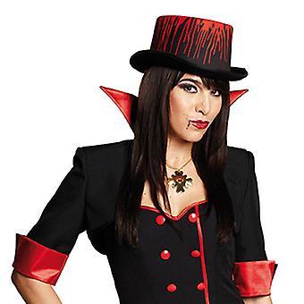 Cilinder bloed ca. 11cm hoge hoed accessoires Halloween carnaval