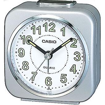 Casio TQ143S-8 Alarm Clock with Light and Snooze - Silver
