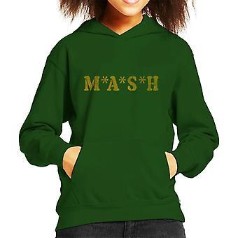 Retro MASH Logo Kid's Hooded Sweatshirt