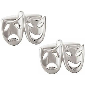 David Van Hagen teatraliska Mask manschettknappar - Silver