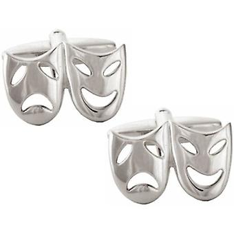 David Van Hagen maschera teatrale gemelli - argento