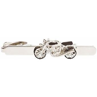 David Van Hagen Motorrad Tie Clip - Silber