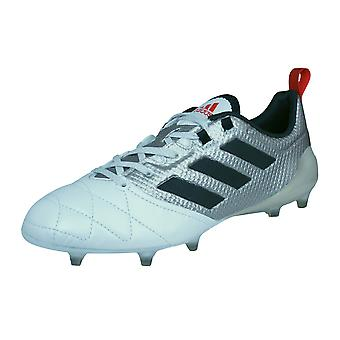 Adidas Ace 17,1 FG Womens cuir Football chaussures / crampons - Metallic Silver et blanc