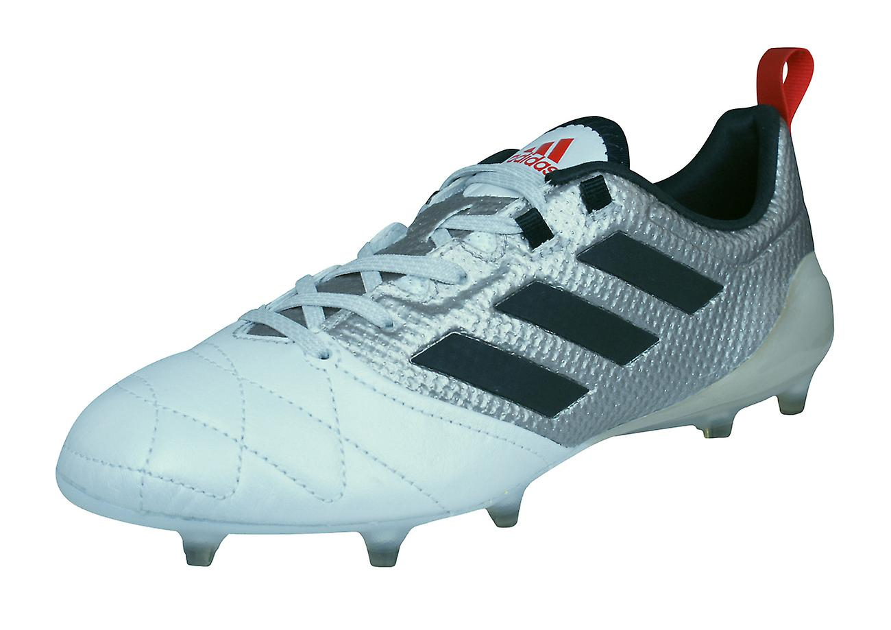 Adidas Ace 17.1 FG femmes Leather Football bottes   Cleats - Metallic argent and blanc