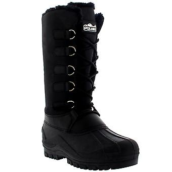 Womens Muck Lace Up Rain Nylon Durable Winter Snow Duck Mid Calf Boots UK 3-10