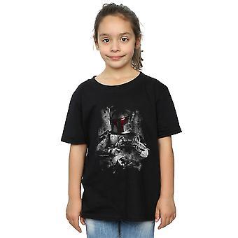 Star Wars Girls Boba Fett Distressed T-Shirt