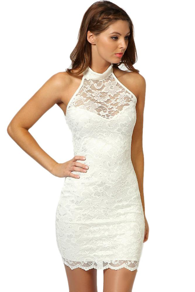Waooh - Fashion - gesäumten kurzes Kleid in Spitze