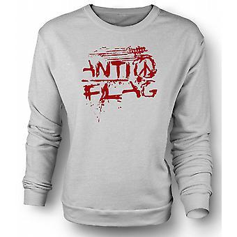 Mens Sweatshirt Anti - Flag - U.S. - Punk rockband - anarchie