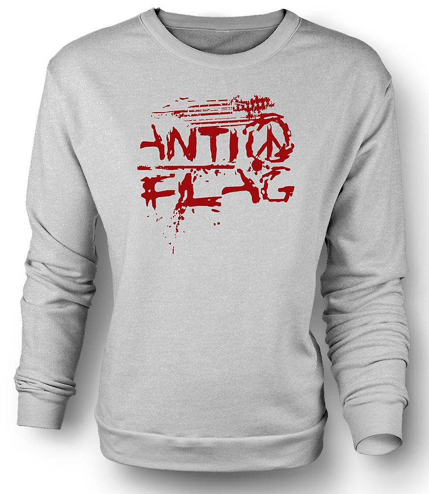 Felpa Mens Anti - Flag - U.S. - Punk Rock Band - anarchia