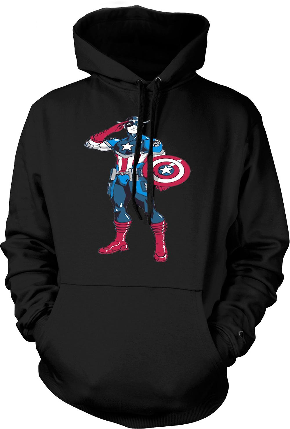 Kids Hoodie - Captain America Superhero - Sketch