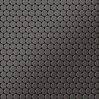 Mozaïek van massief metaal Titaan ALLOY Penny-Ti-SB