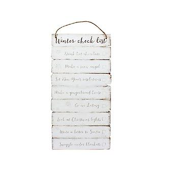 Something Different Winter Checklist Wooden Wall Sign