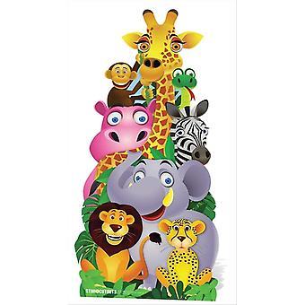 Jungle Pile Up Cardboard Cutout / Standee