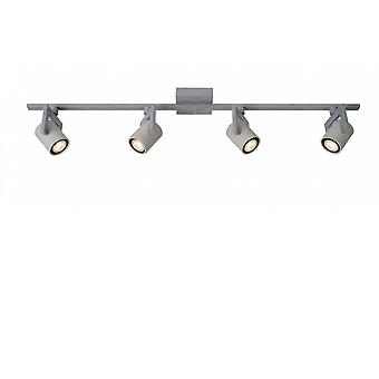 Lucide Conni-LED Industrial Rectangle Metal Grey Ceiling Spot Light
