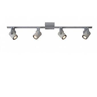 Inspiracja Conni-LED przemysłowe prostokąt metalu szary sufit światło punktowe