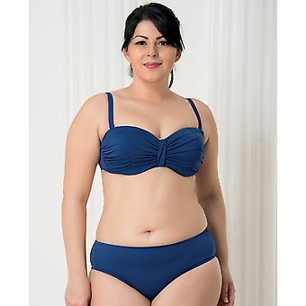 Aqua Perla - Womens -harmony - Blue- Plus Size- Bikini Bottom