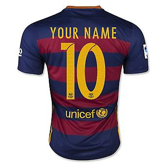 2015-16 Barcelona Home Shirt (Your Name) -Kids