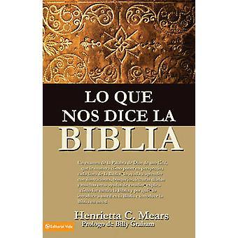 Lo Que Nos Dice La Biblia by Henrietta C Mears - 9780829704853 Book