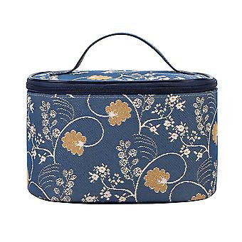 Jane austen blue makeup bag by signare tapestry / toil-aust