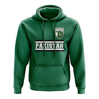 Pakistán corazón de fútbol Country hoody (verde)