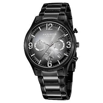 Akribos XXIV Men's Chronograph Matte Dial Bracelet Watch AK607BLK